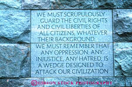 Washington DC FDR Memorial Quotes